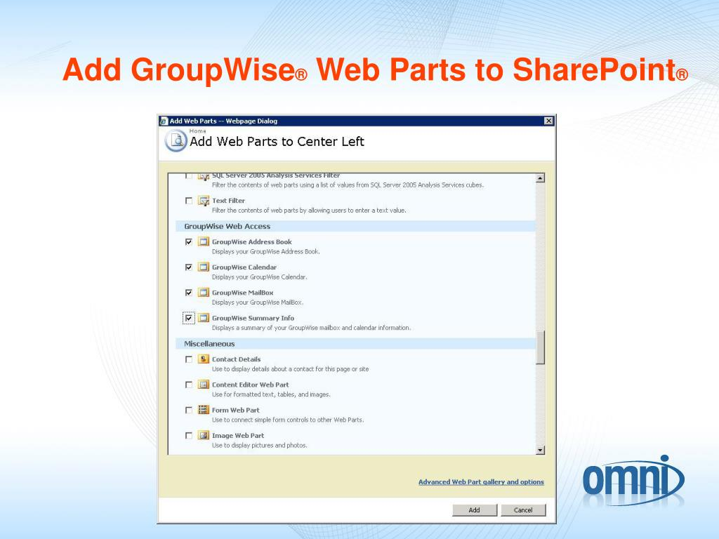 Add GroupWise