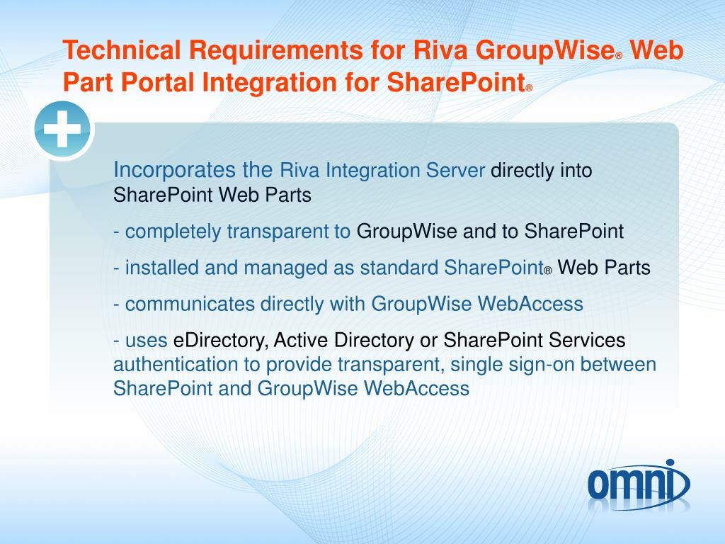 Technical Requirements for Riva GroupWise