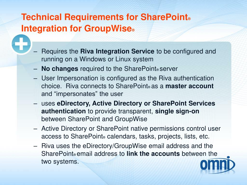 Technical Requirements for SharePoint