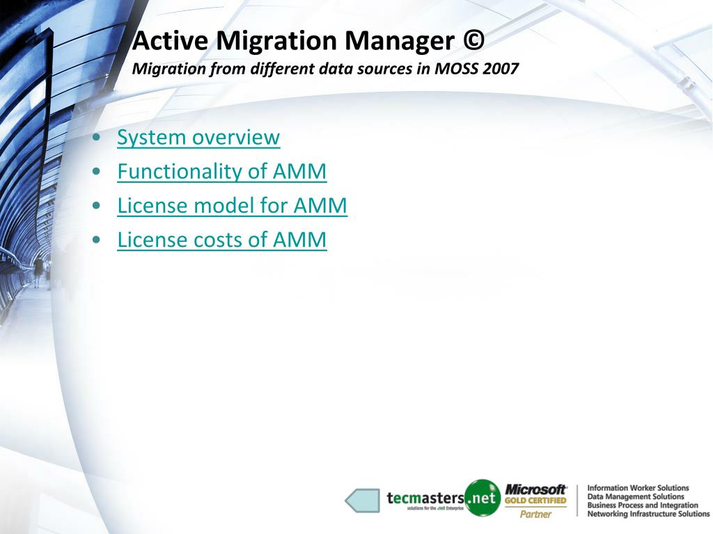 Active Migration Manager ©