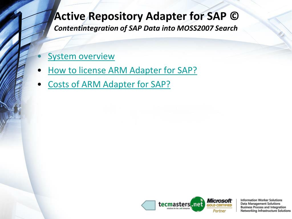 Active Repository Adapter for SAP ©