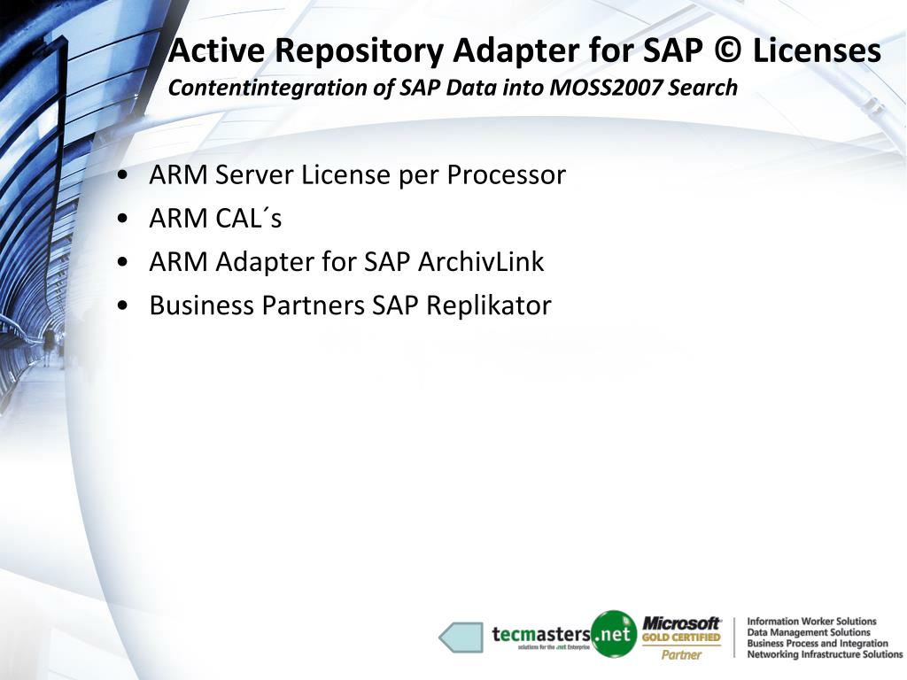 Active Repository Adapter for SAP © Licenses
