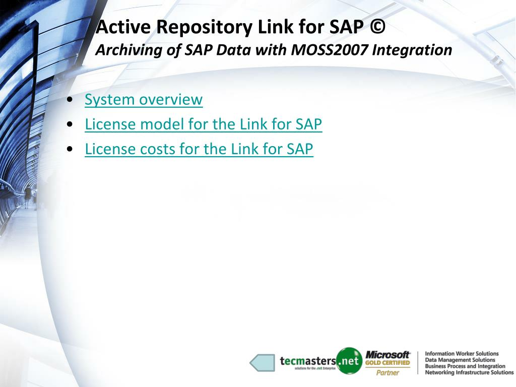 Active Repository Link for SAP ©