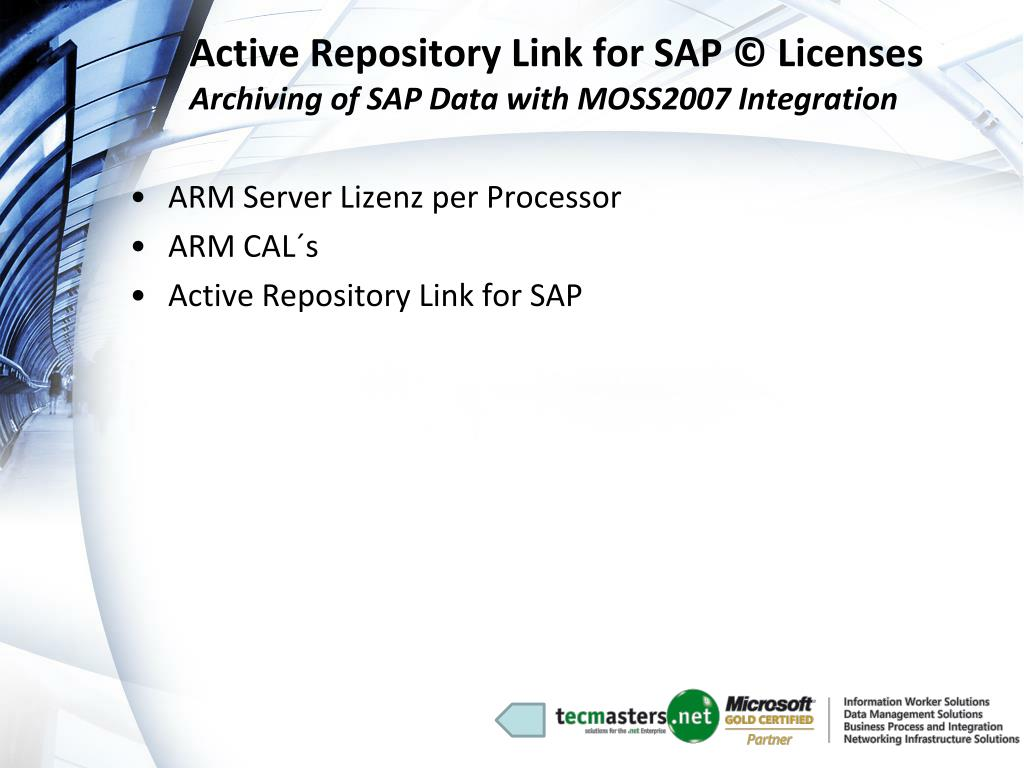 Active Repository Link for SAP © Licenses