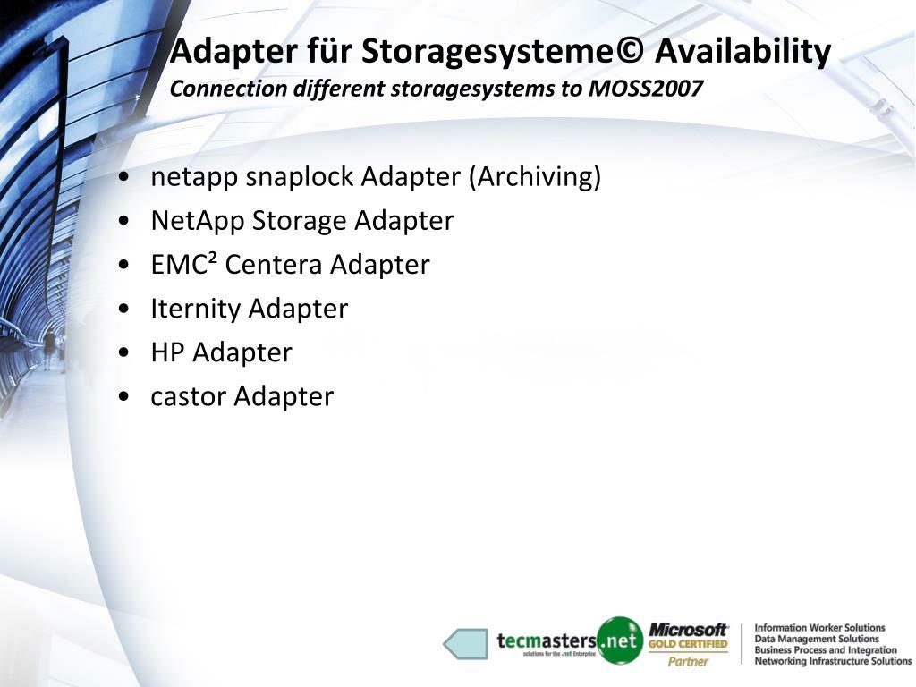 Adapter für Storagesysteme© Availability