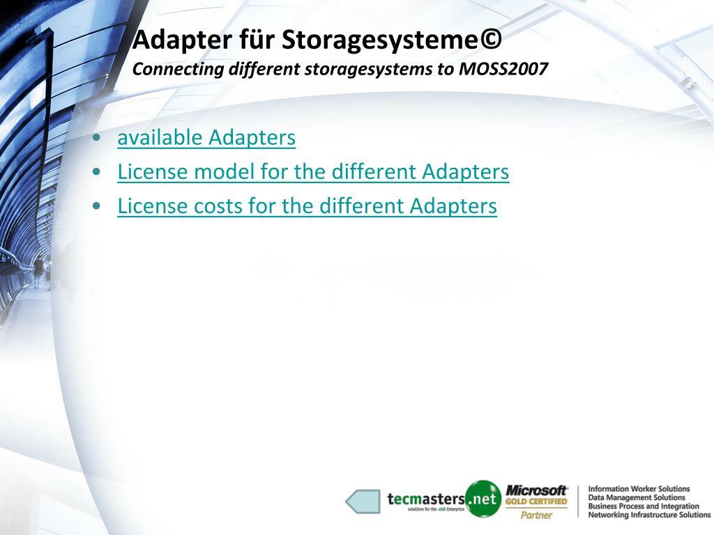 Adapter für Storagesysteme©