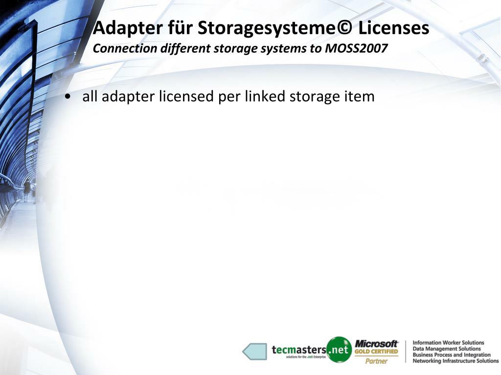 Adapter für Storagesysteme© Licenses