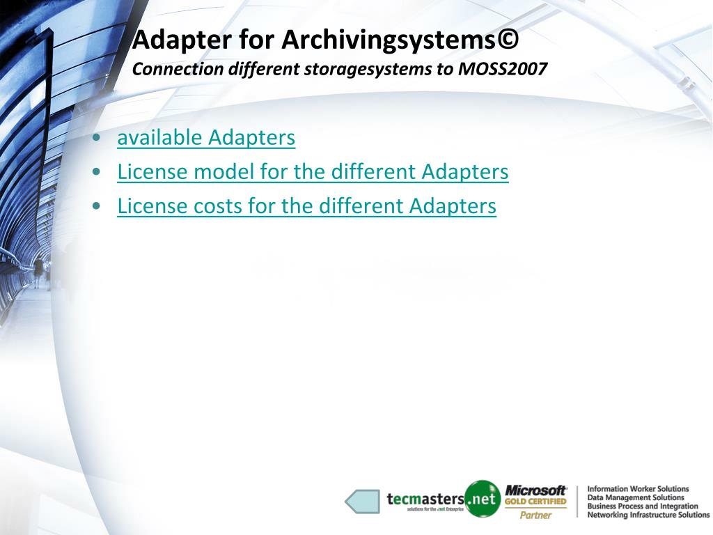 Adapter for Archivingsystems©