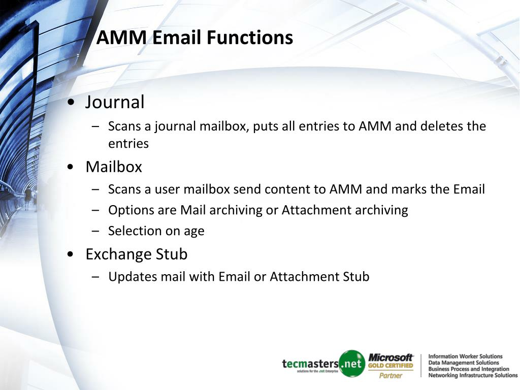 AMM Email Functions