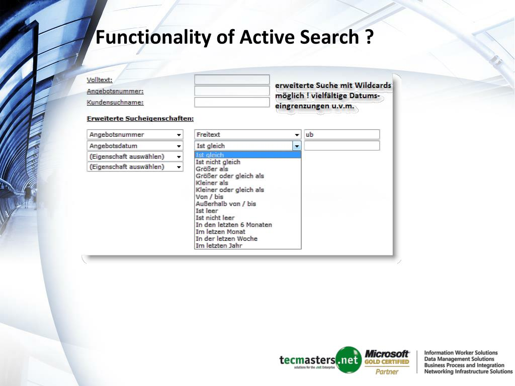 Functionality of Active Search ?