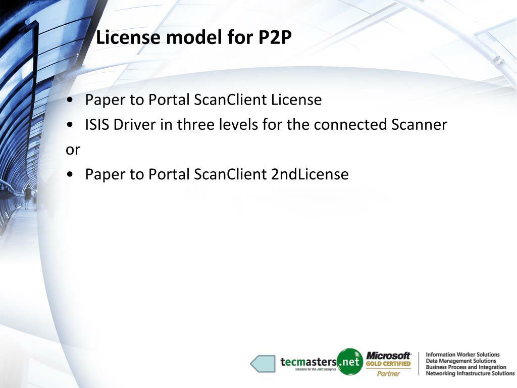 License model for P2P