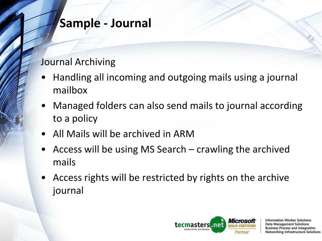 Sample - Journal