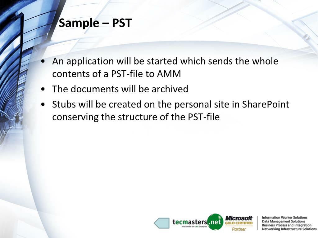 Sample – PST
