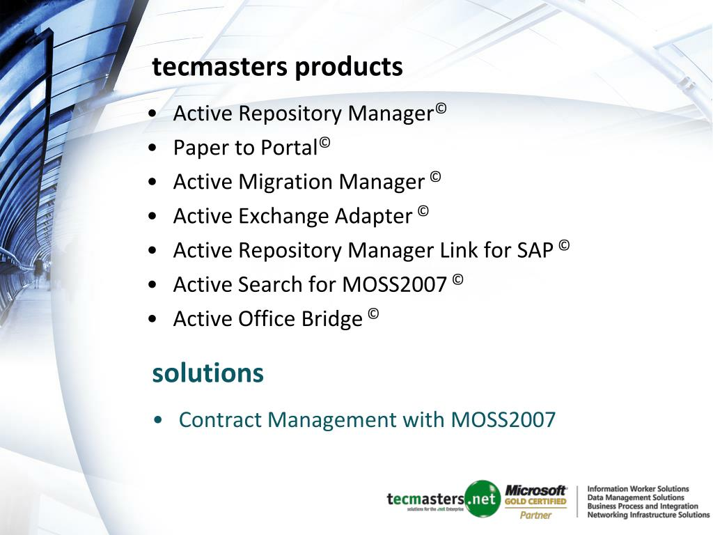 tecmasters products