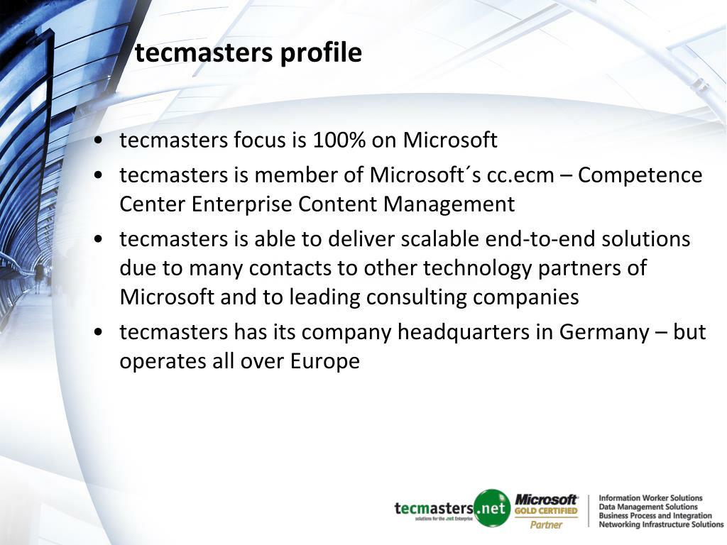 tecmasters profile