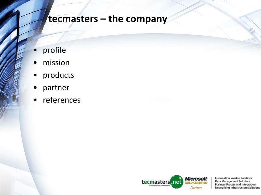 tecmasters – the company