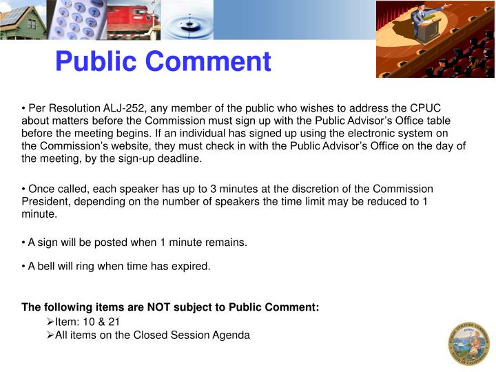 Public Comment