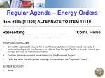 regular agenda energy orders2