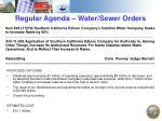 regular agenda water sewer orders2
