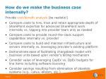 how do we make the business case internally38