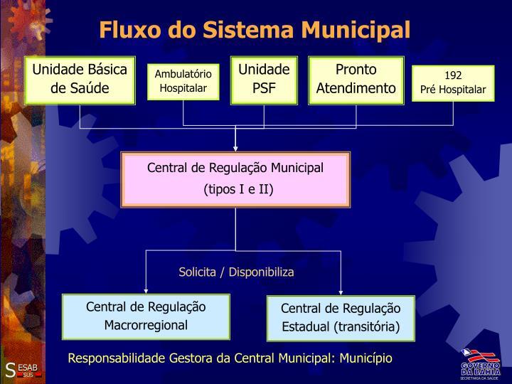 Fluxo do Sistema Municipal