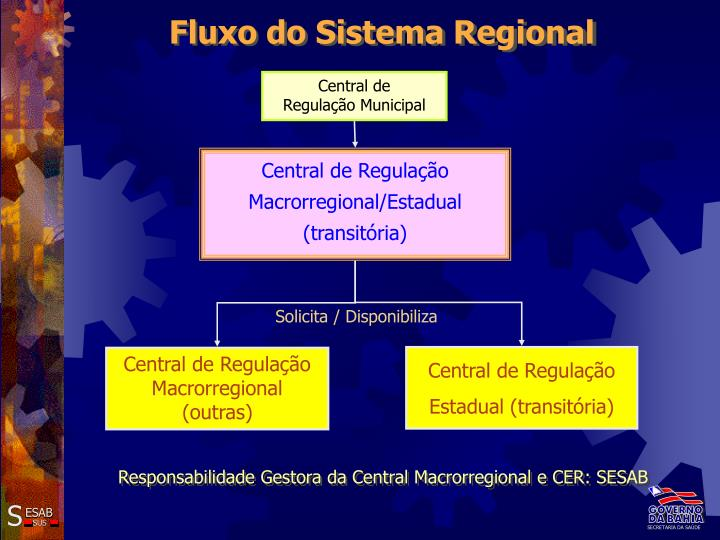 Fluxo do Sistema Regional