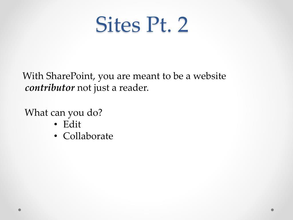 Sites Pt. 2