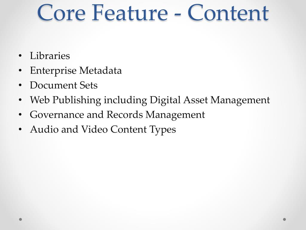 Core Feature - Content