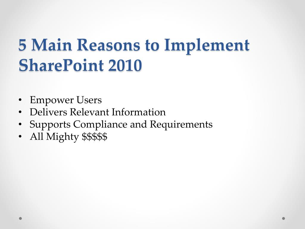 5 Main Reasons to Implement