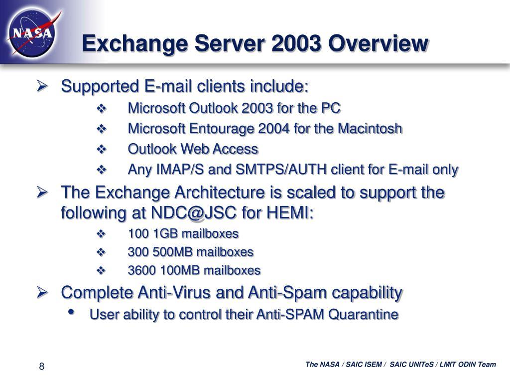 Exchange Server 2003 Overview