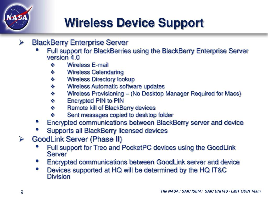 Wireless Device Support