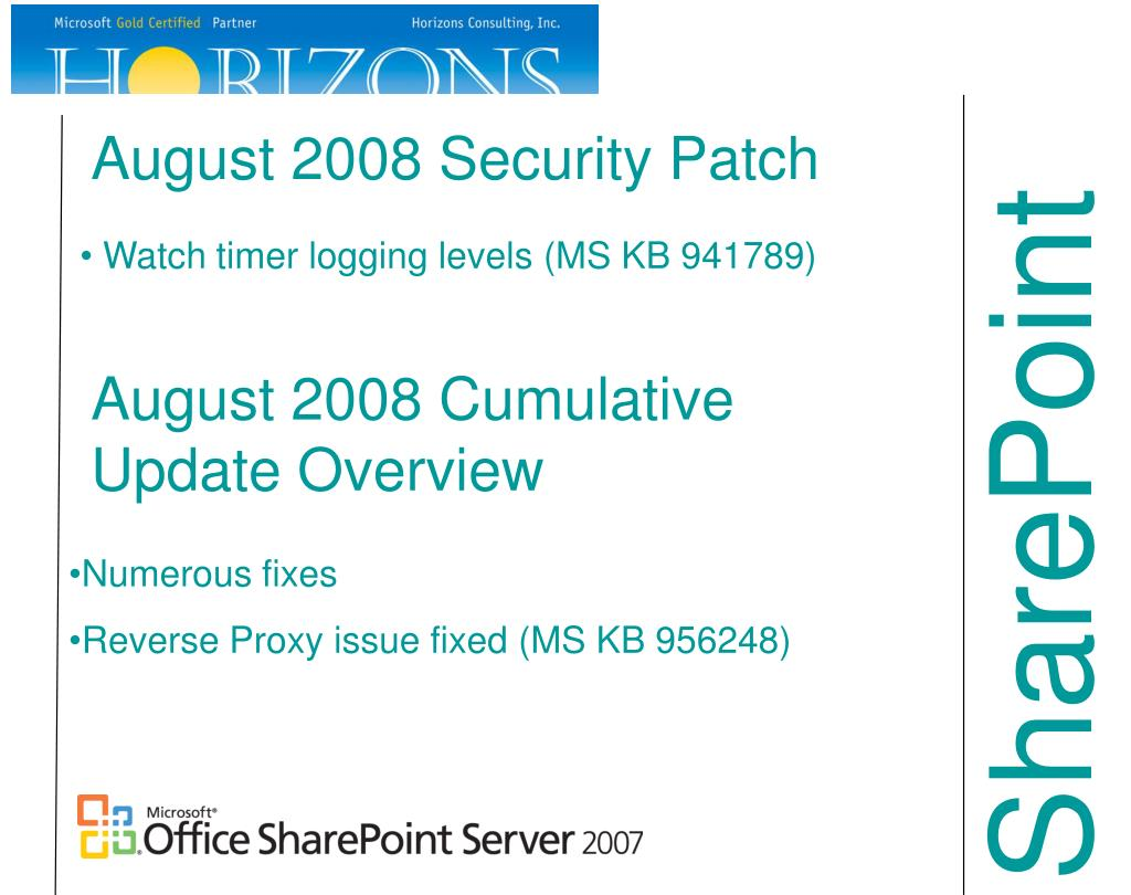 August 2008 Security Patch