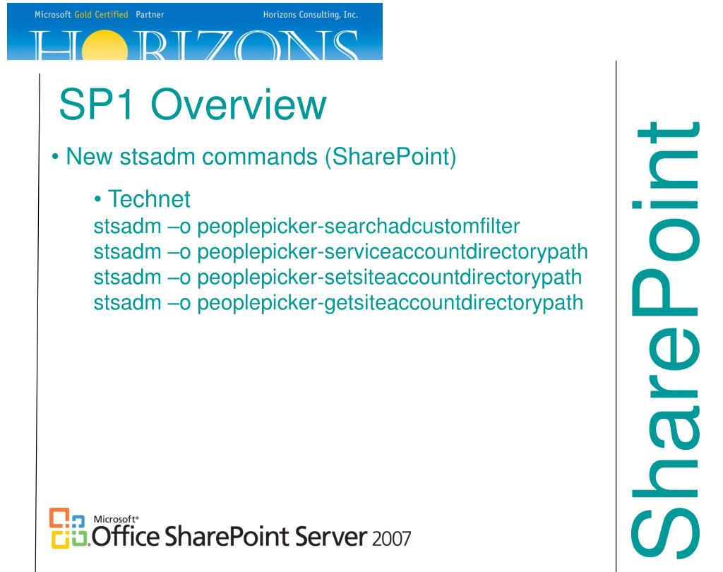 SP1 Overview