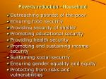 poverty reduction household