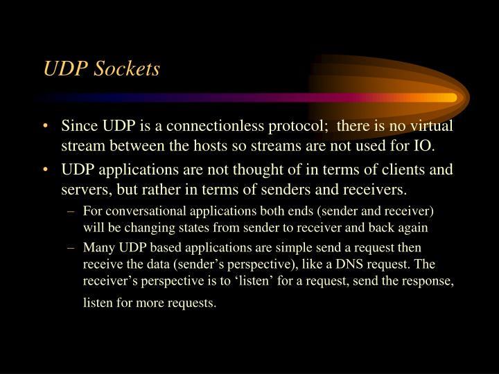 UDP Sockets