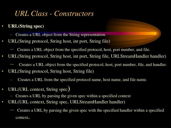 URL Class - Constructors