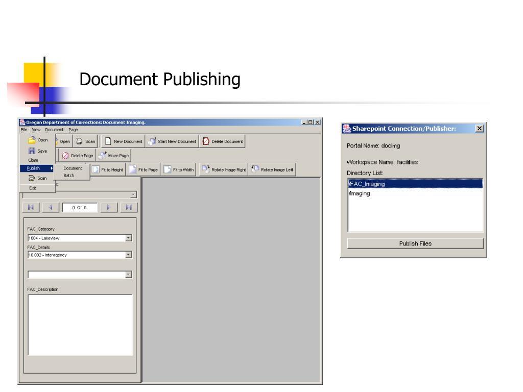 Document Publishing