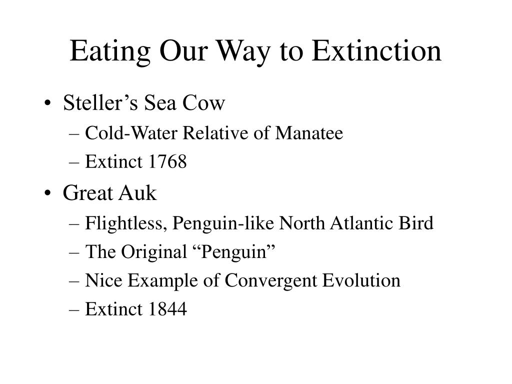 Eating Our Way to Extinction