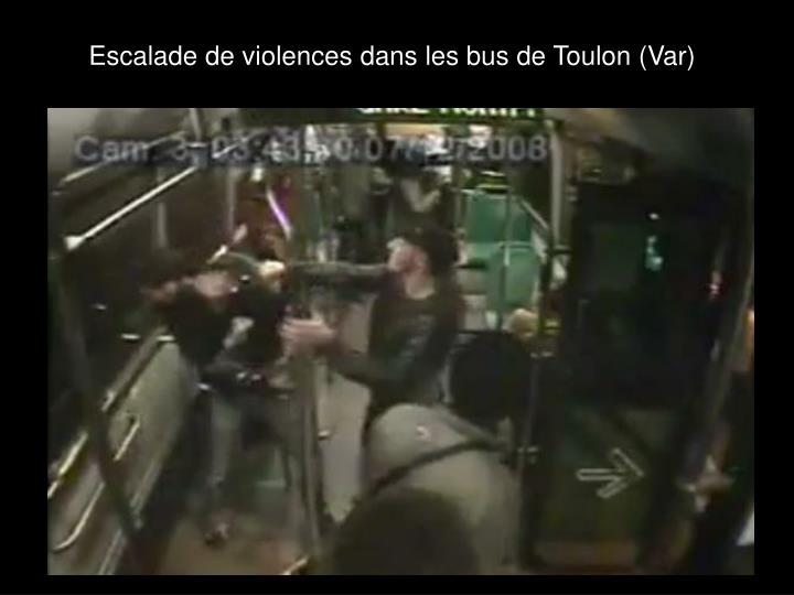 Escalade de violences dans les bus de Toulon (Var)