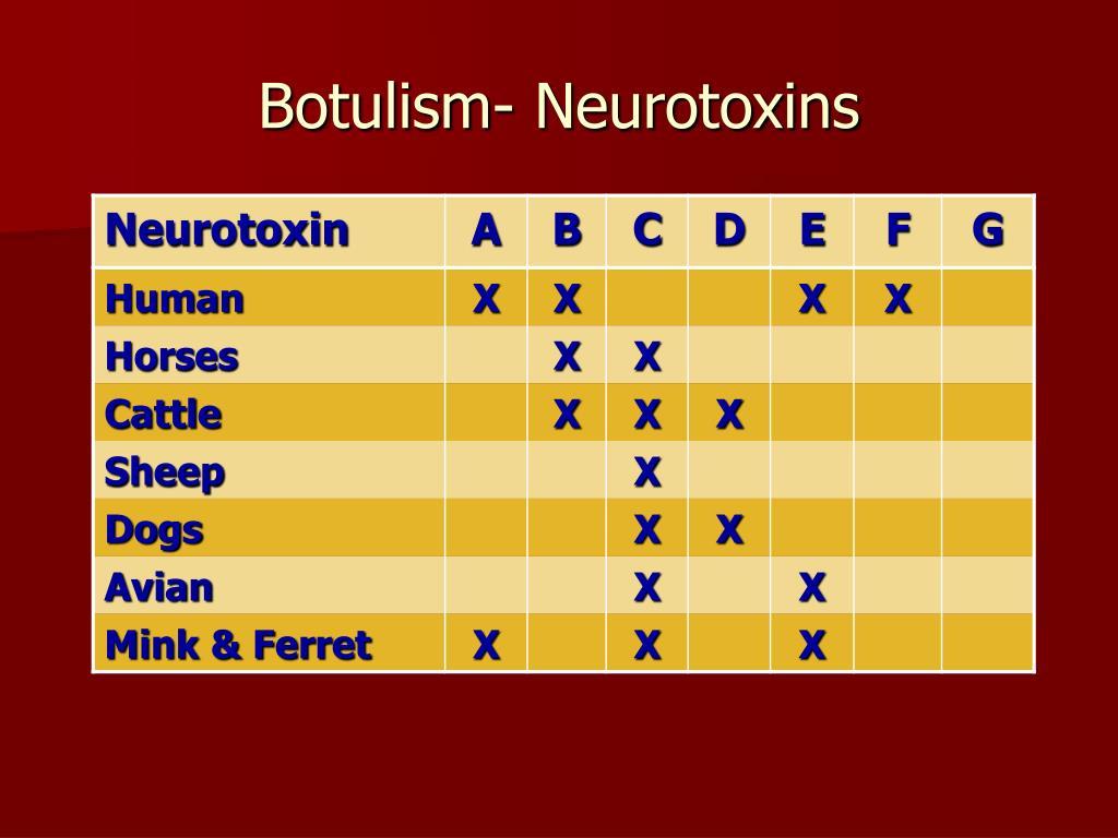 Botulism- Neurotoxins