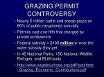 grazing permit controversy