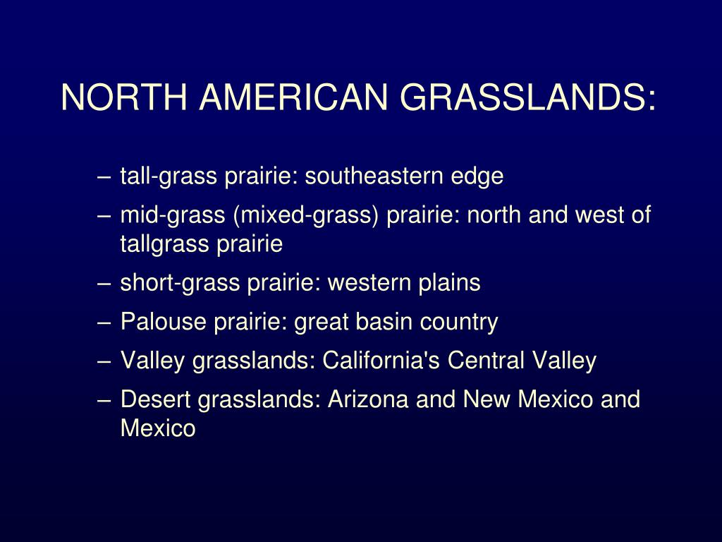 NORTH AMERICAN GRASSLANDS: