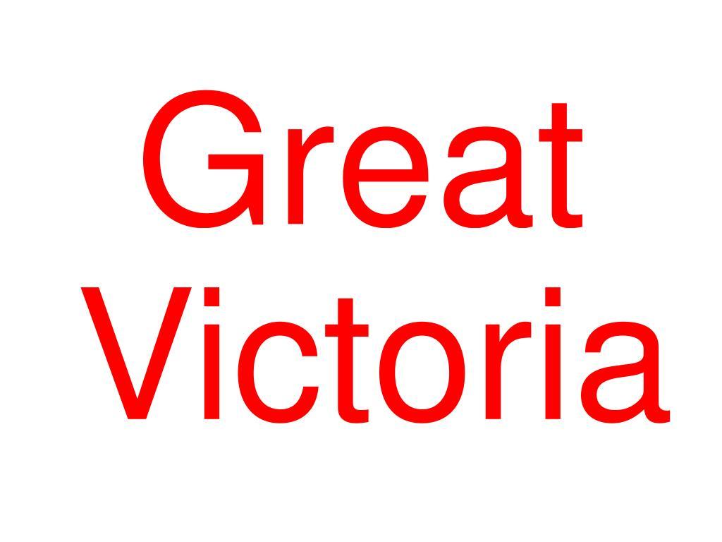 Great Victoria
