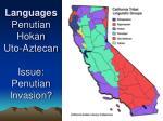 languages penutian hokan uto aztecan issue penutian invasion