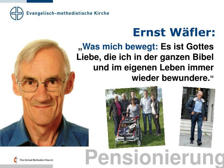 Ernst Wäfler: