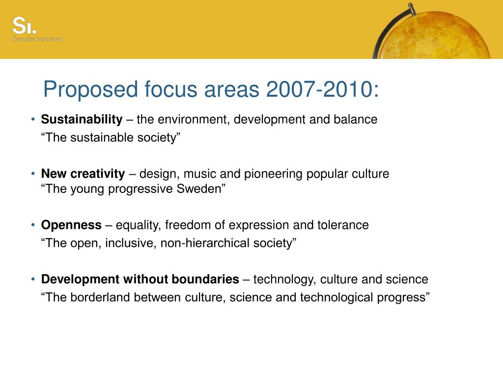Proposed focus