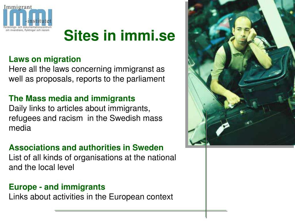 Sites in immi.se