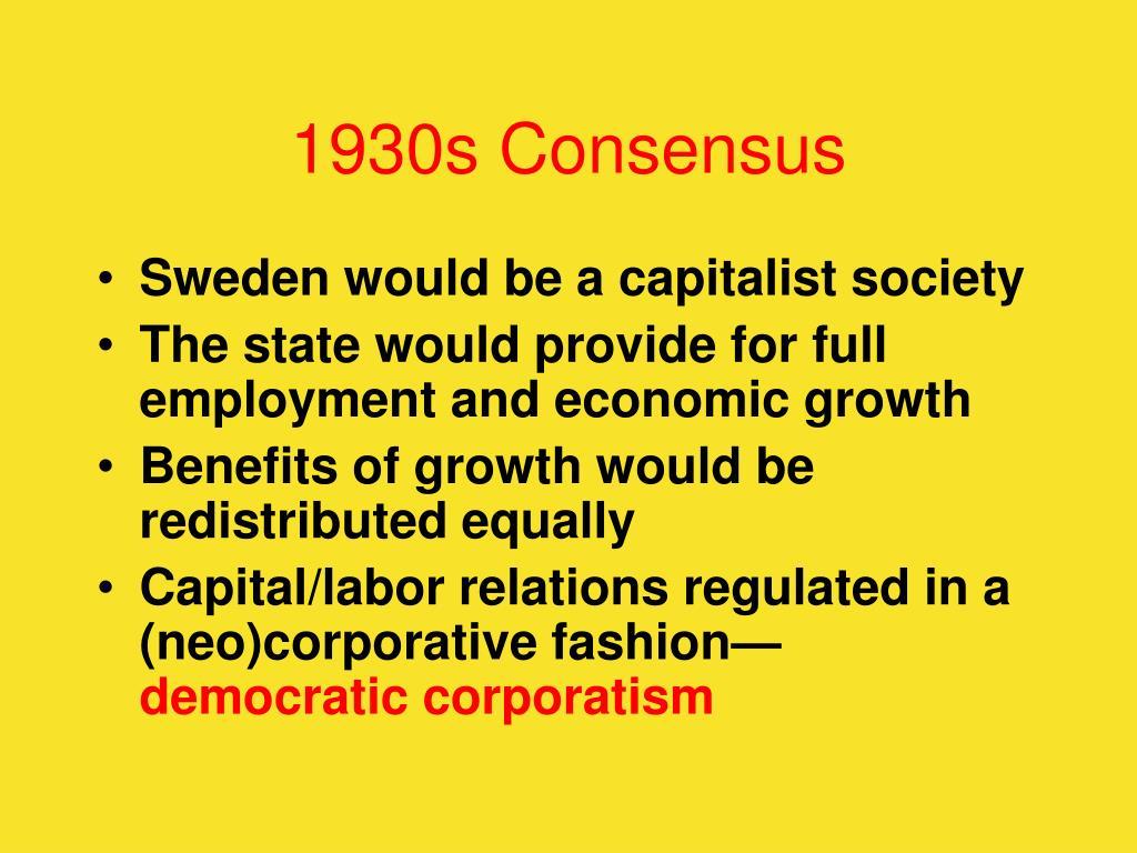 1930s Consensus