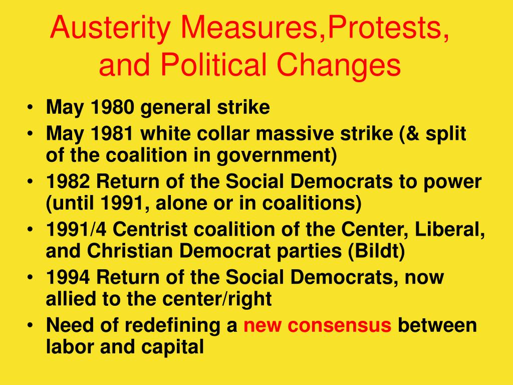Austerity Measures,Protests, and Political Changes