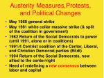 austerity measures protests and political changes